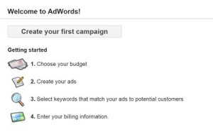 Start a Google Adwords Campaign