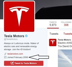 Tesla Motors doing Twitter marketing right.