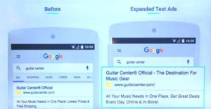 Adwords expanded text ad example.