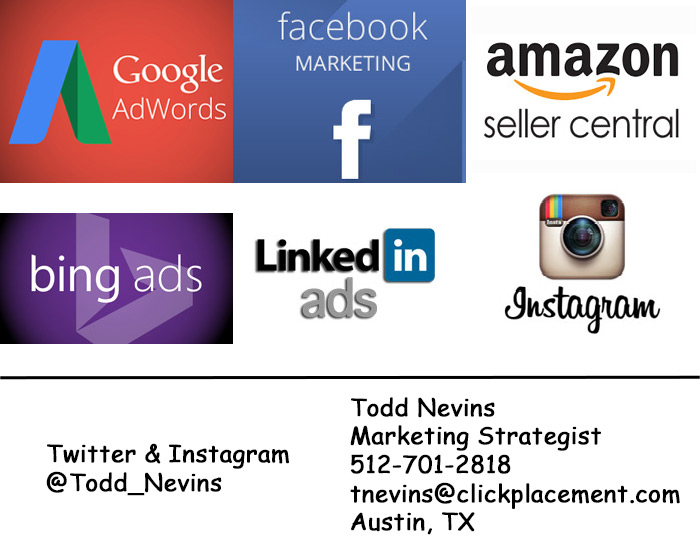 Advertising services with contact information.